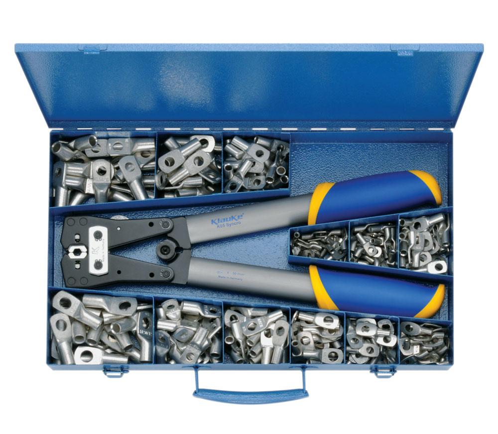Фото Набор пресс-клещи K05 и наконечники медные ''стандарт'' Klauke 6-50 мм² {klkSK65B}