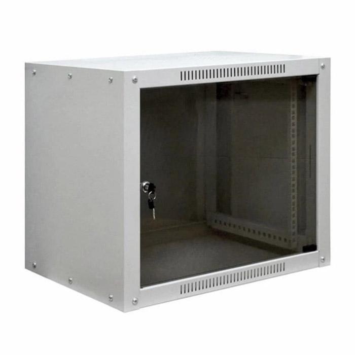 """Фото 19"""" Настенный шкаф Proconnect 9U 600×450×500 - передняя дверь стекло {04-2021}"""