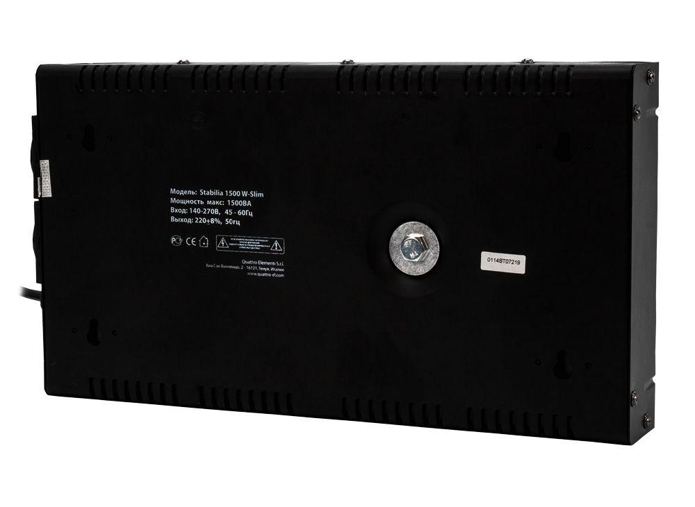 Фото Стабилизатор напряжения Quattro Elementi Stabilia 1500 W-Slim (1500 ВА, 140-270 В, 3,5 кг) настенный {772-579} (4)