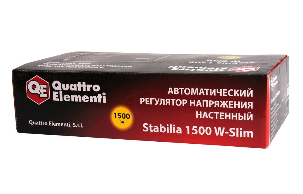 Фото Стабилизатор напряжения Quattro Elementi Stabilia 1500 W-Slim (1500 ВА, 140-270 В, 3,5 кг) настенный {772-579} (6)