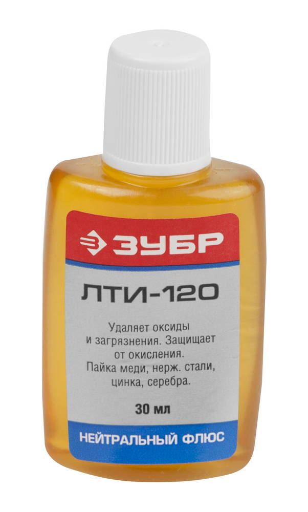 Фото Флюс ЗУБР ЛТИ-120, пластиковый флакон, 30мл {55480-030}