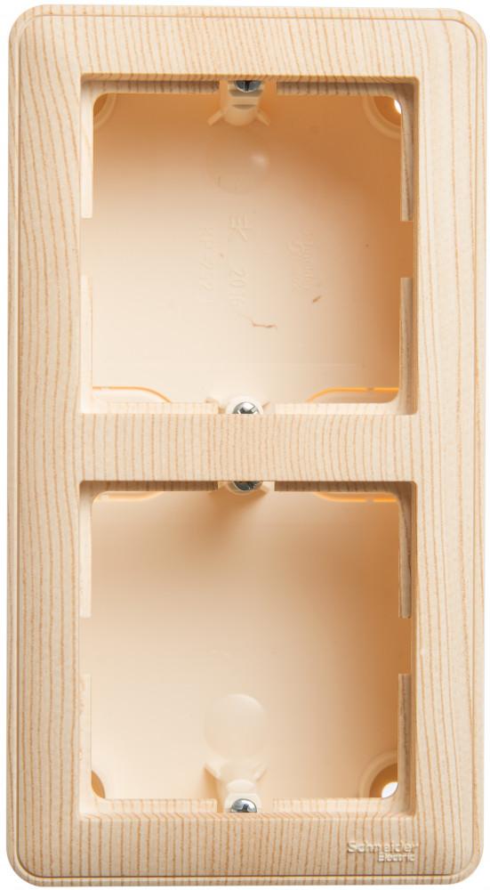 Фото W59 коробка подъемная для наружного монтажа с рамкой 2-местная, сосна {KP-252-78}