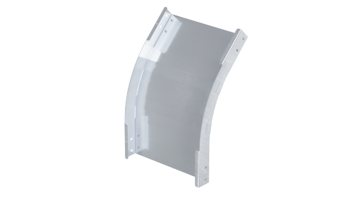 Фото Угол для лотка вертикальный внешний 45град. 80х100 1.5мм нерж. сталь AISI 304 в комплекте с крепеж. эл. DKC ISPM810KC