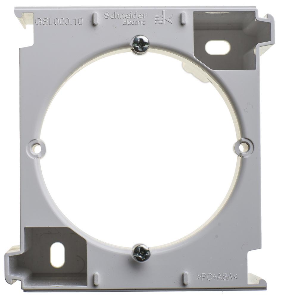 Фото Расширение коробки наружного монтажа GLOSSA, белый {GSL000100C}