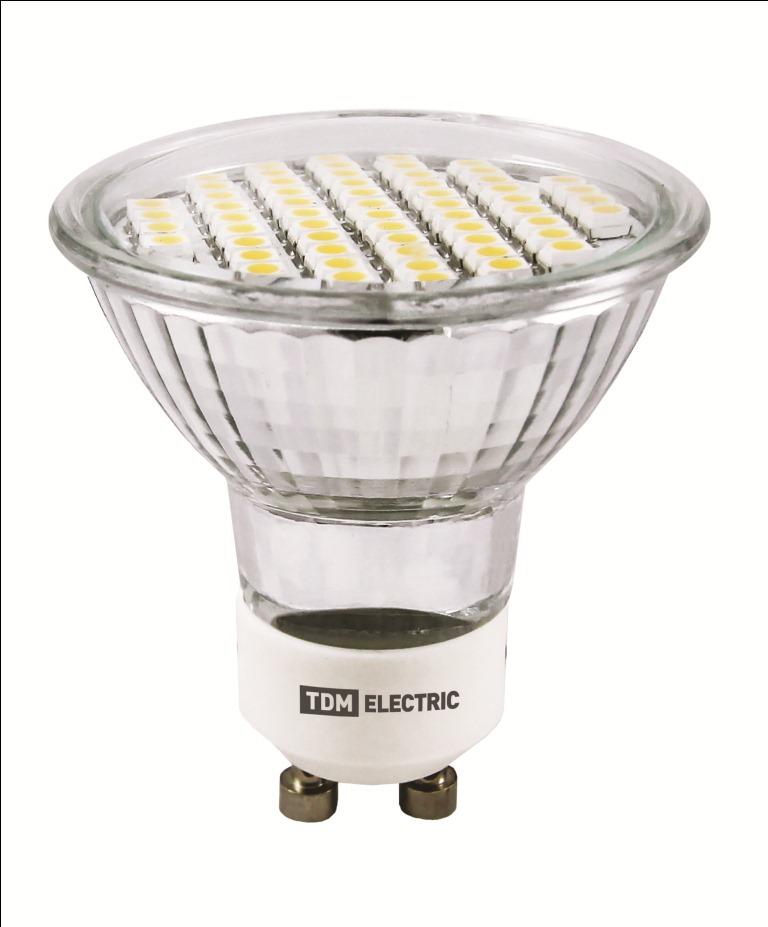 Фото Лампа светодиодная PAR16-3 Вт-220 В -3000 К–GU 10 SMD TDM {SQ0340-0026}