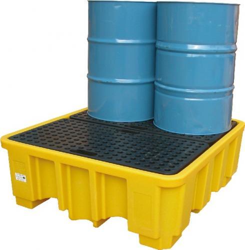 Фото Закрывающийся контейнер с поддоном на 4 бочки {spcz02}