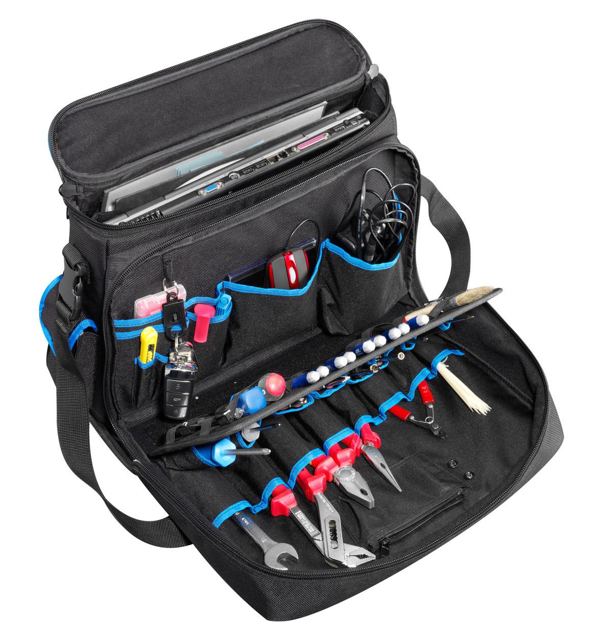Фото Профессиональная комбинированная сумка для хранения и переноски ноутбука и инструментов {klkKL905L}