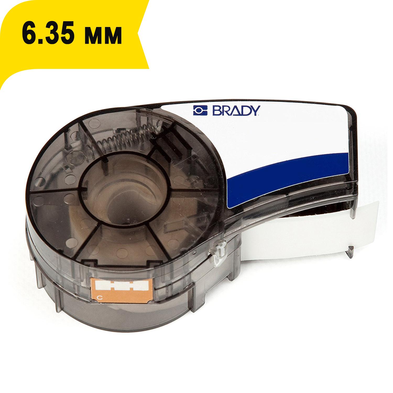 Фото Лента Brady M21-250-595-YL (6.35 мм, черный на желтом) {brd139745}
