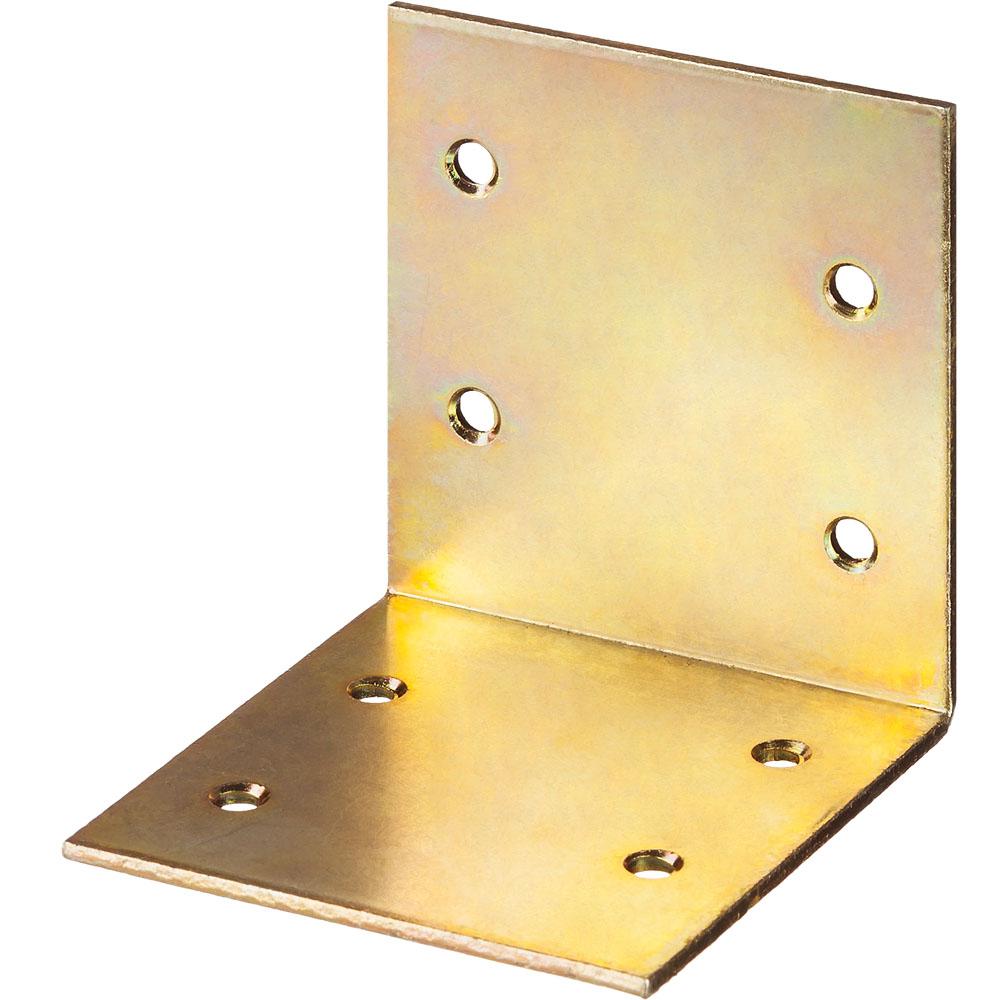 Фото Уголок мебельный широкий УМШ-2.0, 60х60х60 х 2мм, желтый цинк, ЗУБР {31033-60}