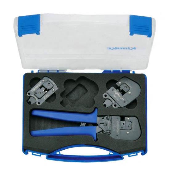 Фото Набор из серии Klauke-Pro: базовый инструмент-рукоятки и пресс-головы KP631, KP632, KP64 {klkSKP6}