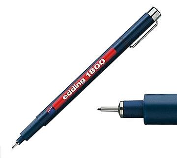 Фото Капиллярная ручка-фломастер Edding для черчения, круглый наконечник, 0,1 мм, красный {E-1800-0.1#2} (3)