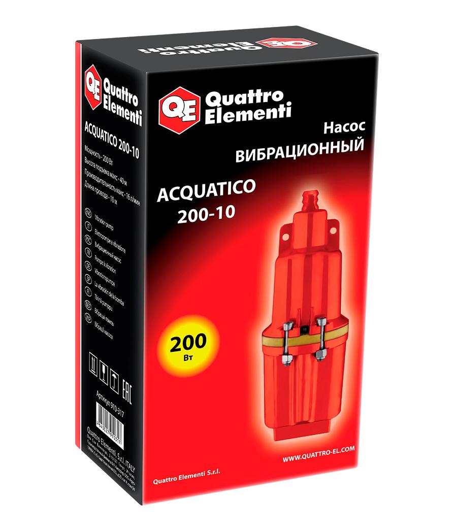Фото Вибрационный насос Quattro Elementi Acquatico 200-10 (200 Вт, 960 л/ч, для чистой, 40 м, кабель 10 м, 2,4 кг) {910-317} (5)
