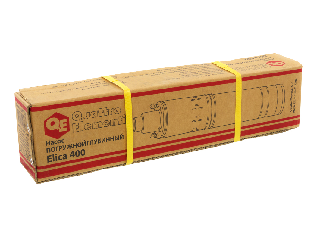 Фото Глубинный насос Quattro Elementi Elica 400 (400 Вт, 2100 л/ч, для чистой, 50 м, 7.4 кг, нержавеющий корпус, провод 10 м) {246-968} (3)