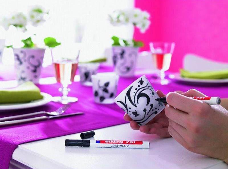 Фото Маркер глянцевый лаковый Edding E-751 металлик розовый, круглый наконечник 1-2 мм {E-751#79} (1)