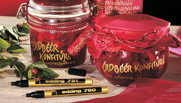 Фото Маркер глянцевый лаковый Edding E-751 металлик розовый, круглый наконечник 1-2 мм {E-751#79} (2)