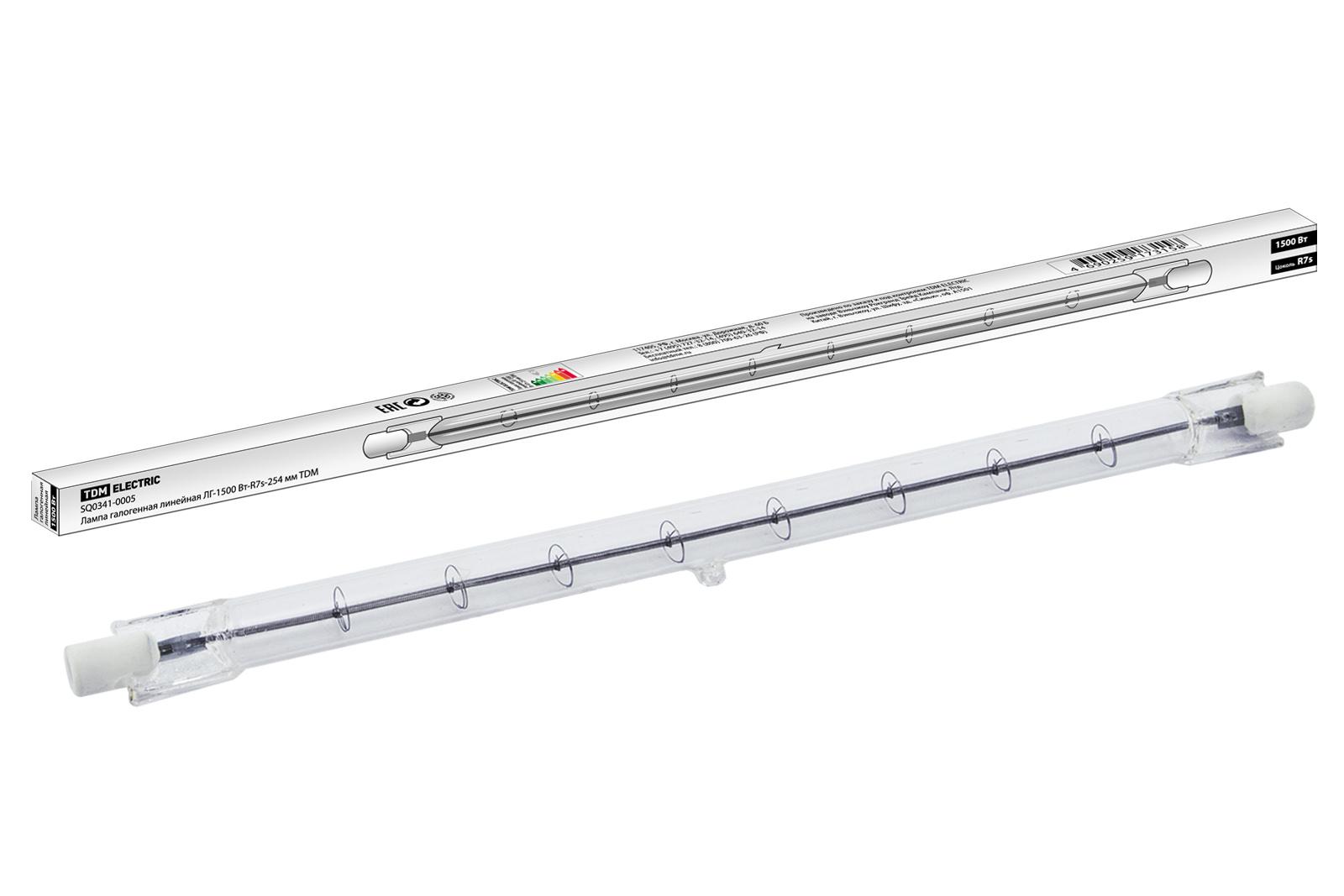 Фото Лампа галогенная линейная ЛГ-1500 Вт-R7s-254 мм TDM {SQ0341-0005}