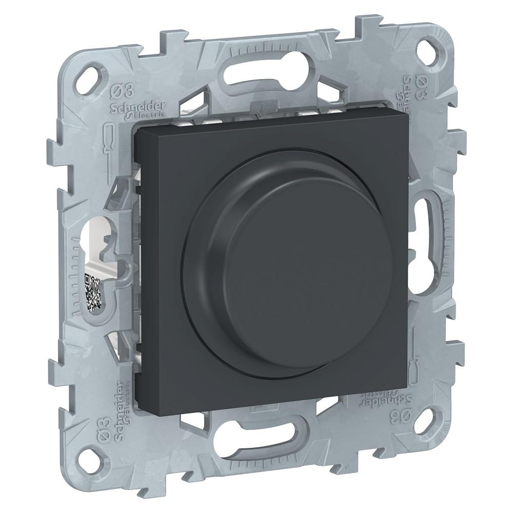 Фото Светорегулятор UNICA NEW LED повор-наж, универсальный 5-200вт, антрацит {NU551454}
