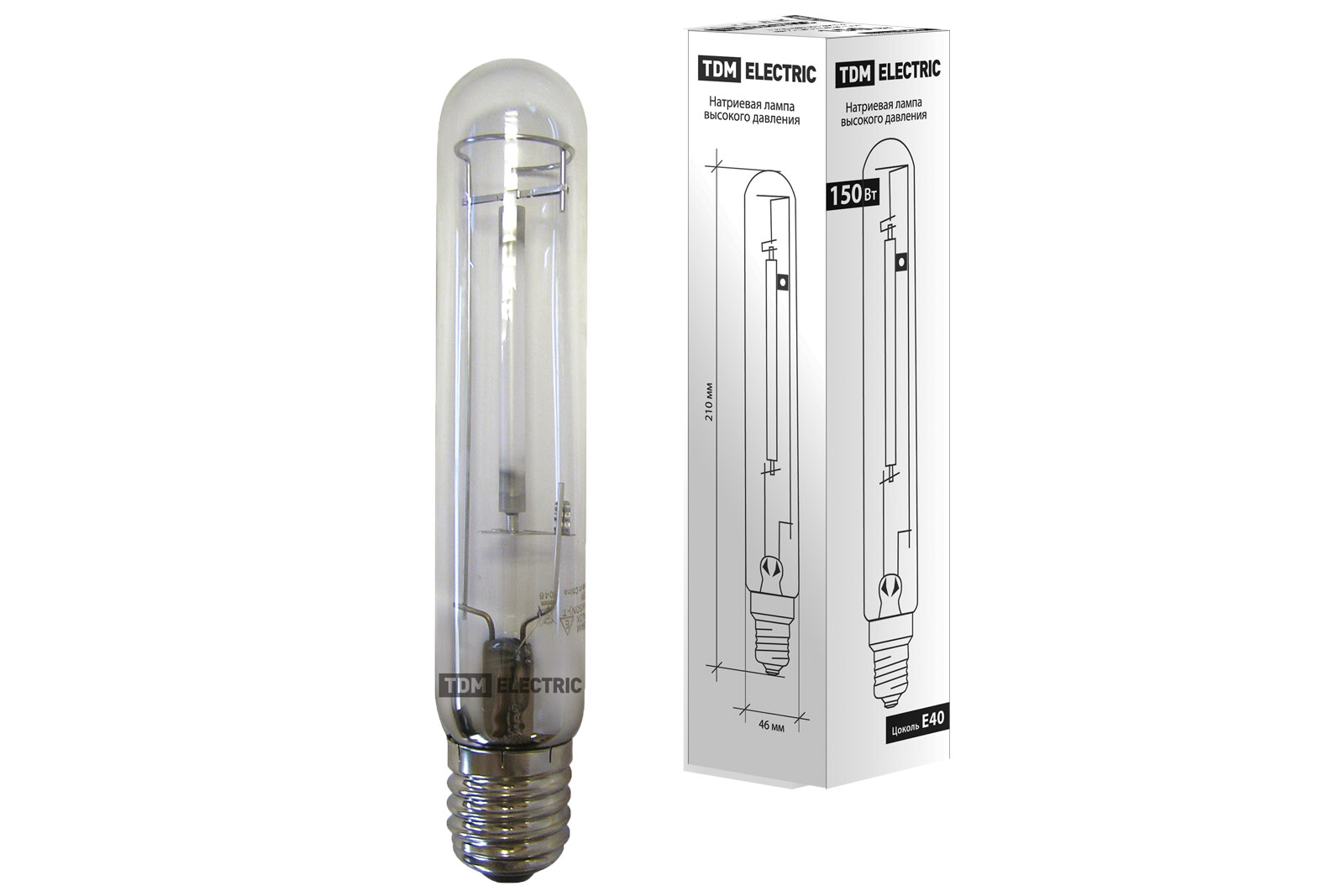 Фото Лампа натриевая высокого давления ДНаТ 150 Вт Е40 TDM {SQ0325-0003}