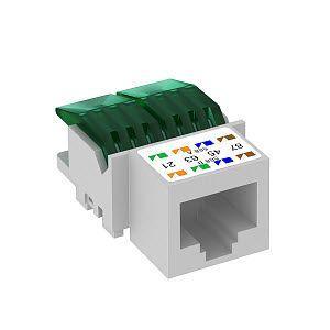 Фото Модуль с суппорт. кат. 5Е разъем RG45 ASM-C5 OBO 6117337 (1)