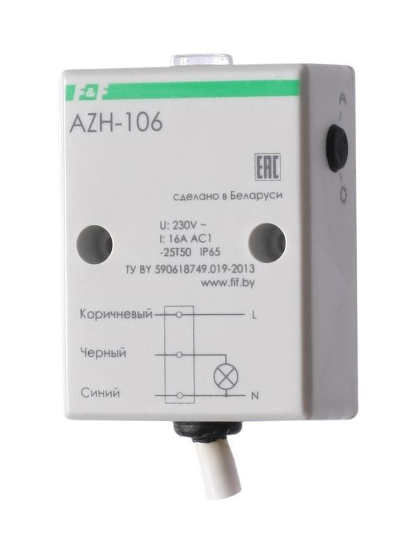Фото Фотореле AZH-106 (встроенный фотодатчик на плоскость 230В 16А 1 перекл. IP65) F&F EA01.001.002 (1)