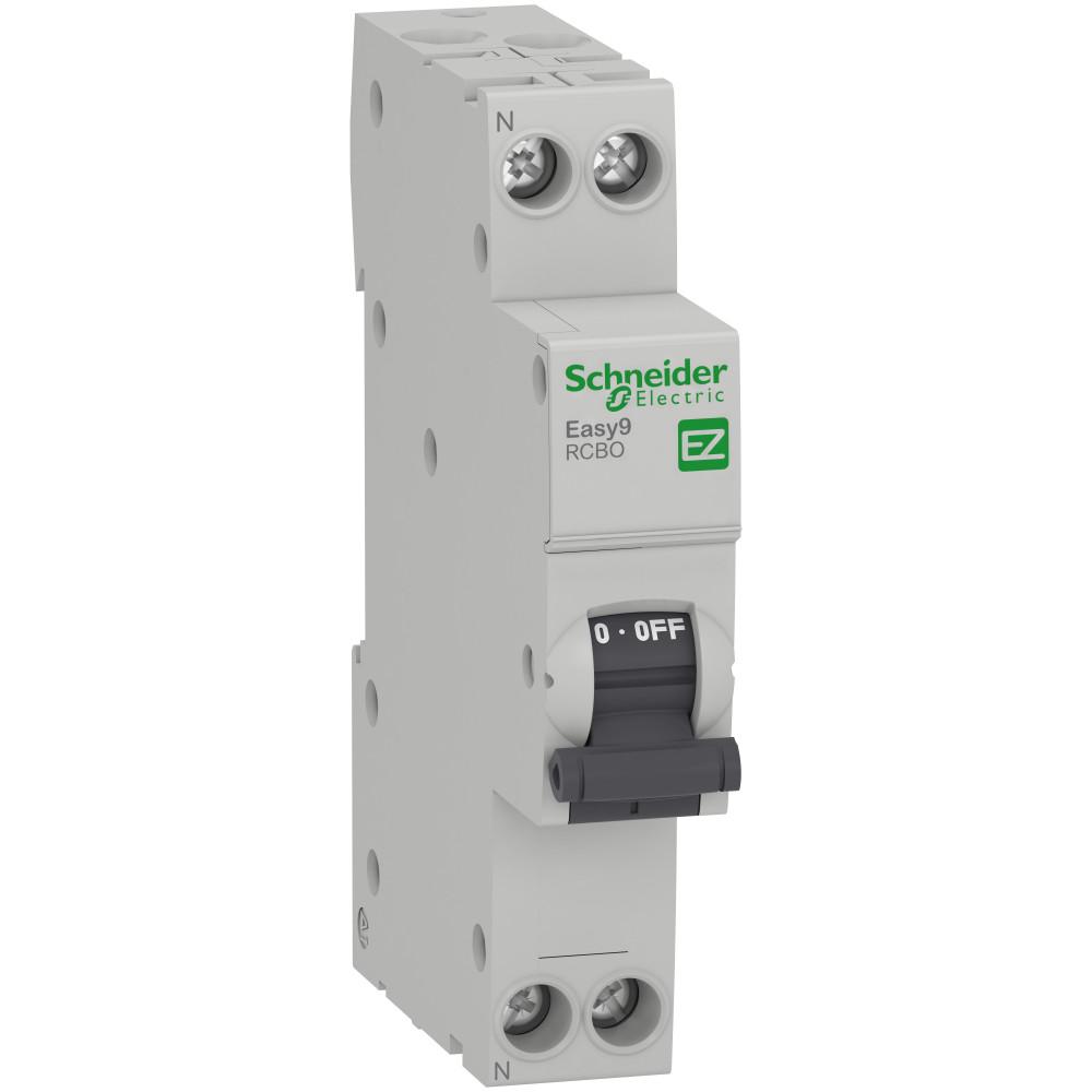 Фото Дифференциальный автоматический выключатель  Easy9 1п+н 16A 30MA 4,5ка C а, 18 мм {EZ9D53616}