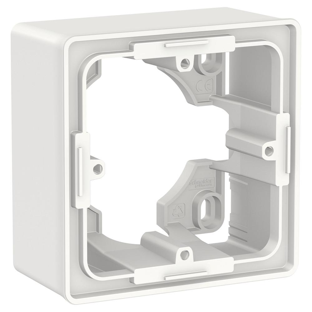 Фото Коробка для открытой установки UNICA NEW, 1-постовая, белый {NU800218}