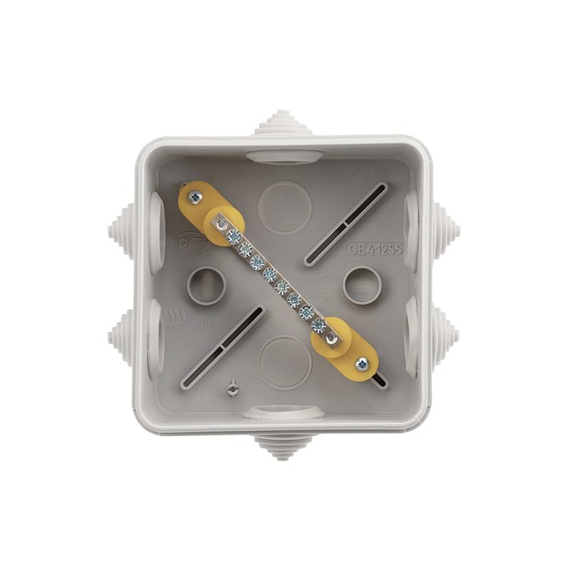 Фото Коробка уравнивания потенциалов Rexant, ОУ 100×100×50 мм, винт IP55 {28-3051} (1)