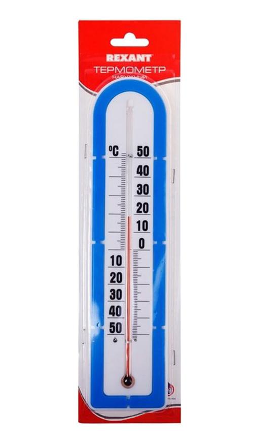 """Фото Термометр Rexant """"Наружный"""" основание - пластмасса {70-0605} (1)"""