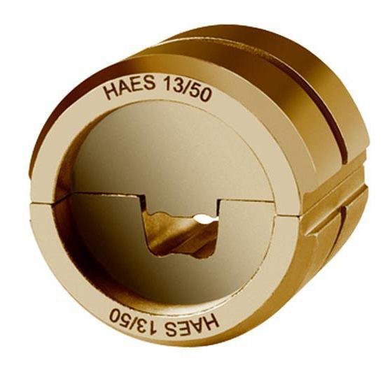 """Фото Матрица серии """"13"""" для втулочных наконечников 185 мм² для компактных жил 5-6 класс (специальная трапеция) {klkHAES13185}"""