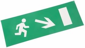 """Фото Наклейка для аварийного светильника Rexant, """"Направление к эвакуационному выходу направо вниз"""" {74-0130-1}"""