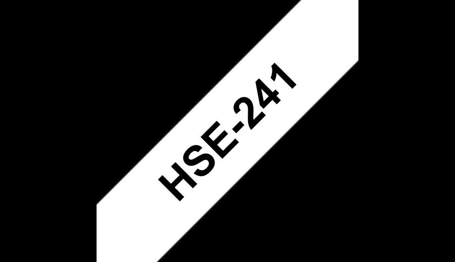 Фото Термоусадочная трубка Vell HSE-241 (Brother HSE 241, 18 мм, черный на белом) для PT D450/D600/E300/2700/ P700/P750/E550/9700/P900/2430 {Vellhse241} (1)