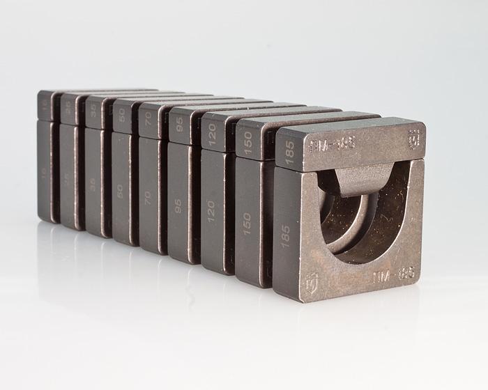 Фото Набор матриц НМ-300 ПМ для опрессовки медных листовых наконечников ПМ (9 шт.) {61035} (1)