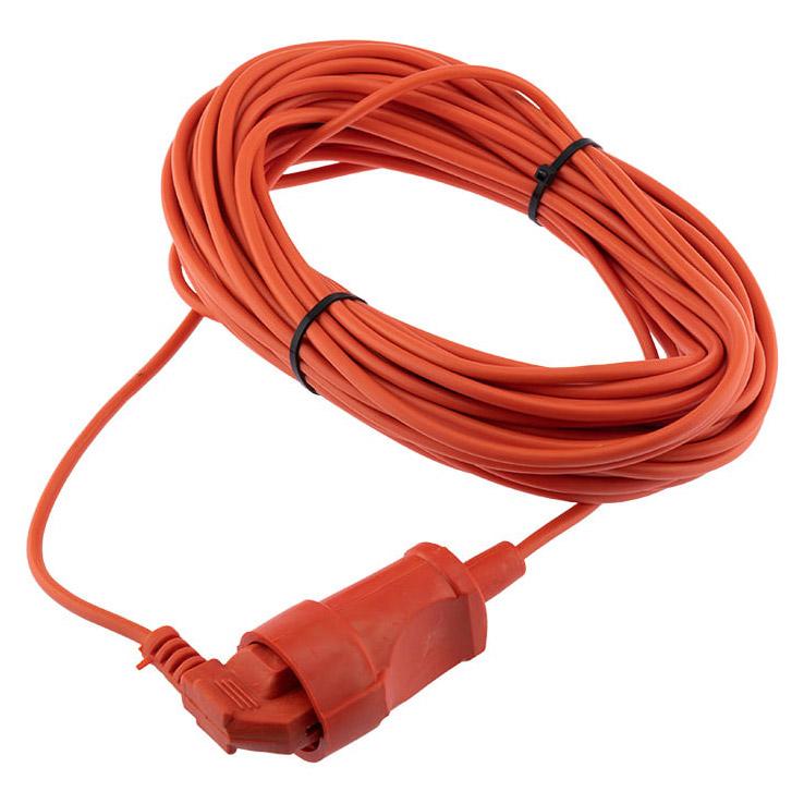 Фото Шнур-удлинитель 20 метров оранжевый ПВС 2х0.75 мм² (6 А/1300 Вт) PROconnect {11-7641}