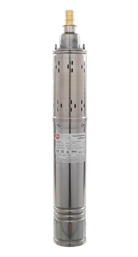 Фото Глубинный насос Quattro Elementi Elica 800 (800 Вт, 5000 л/ч, для чистой, 50 м, 10.4 кг, нержавеющий корпус, провод 10 м) {246-999}