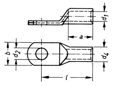 Фото Никелевые наконечники Klauke 4-6 мм² под винт M6 {klk58N6} (1)