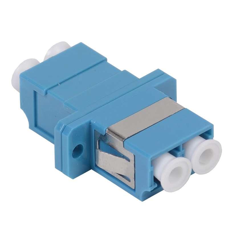Фото Адаптер проходной LC-LC для одномодового и многомодового кабеля (SM/MM); с полировкой UPC; двойного исполнения (Duplex) ITK FC1-LCULCU2C-SM