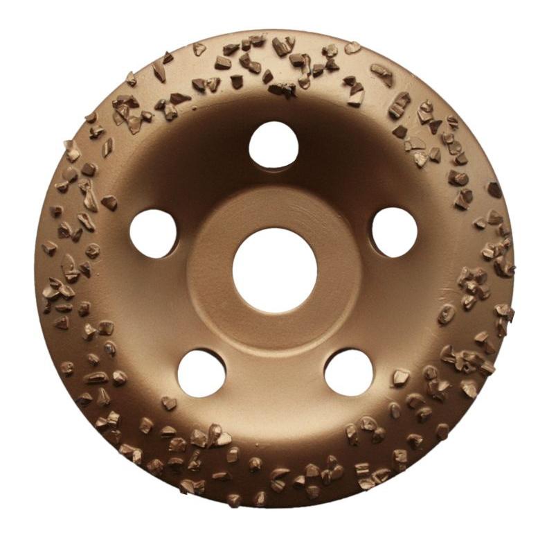 Фото Чашка твердосплавная Практика, для камня и бетона, 125 х 22 мм наклонный, зерно # 8 крупное {773-590}