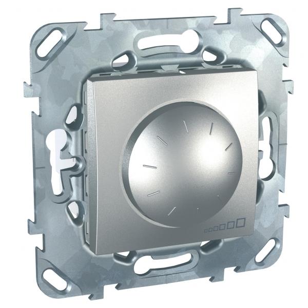 Фото UNICA TOP диммер повор.-нажим.,для люмин. ламп,1-10в,4-провод.подключ., алюминий {MGU5.510.30ZD}