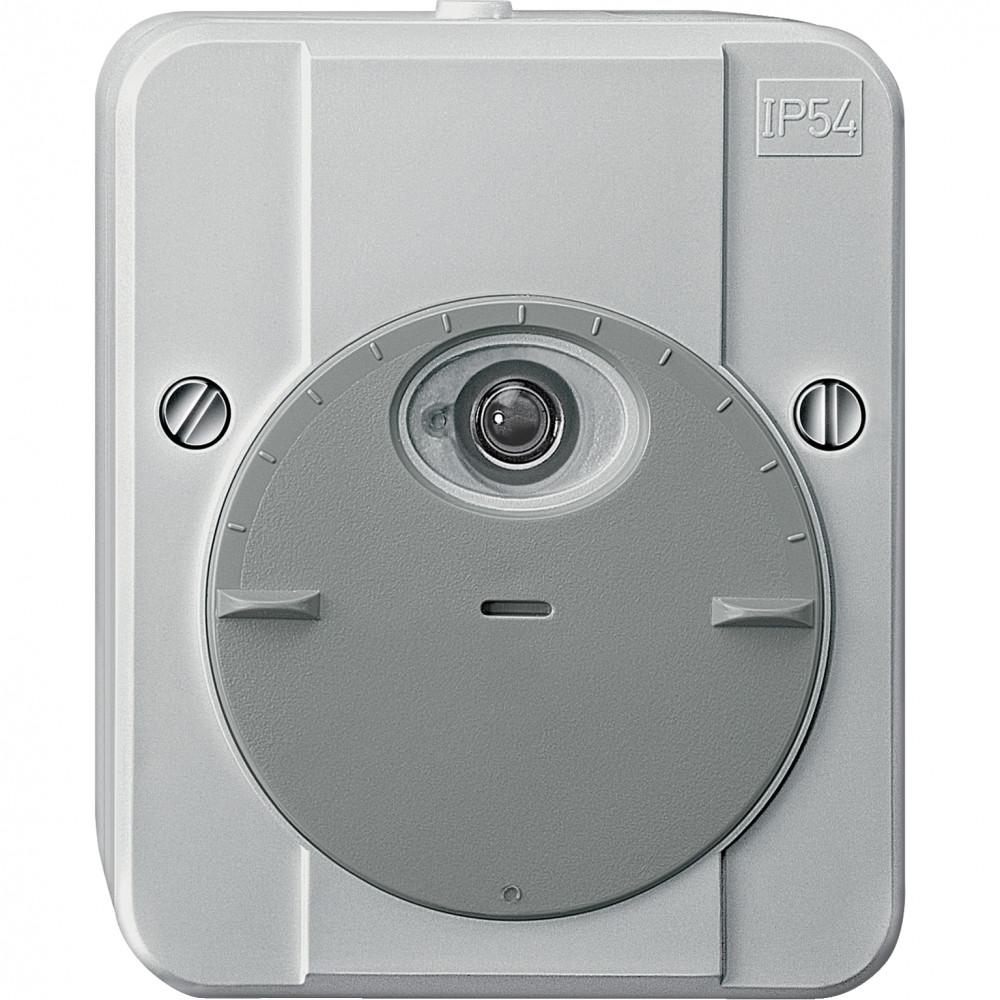 Фото MERTEN сумеречный датчик ARGUS, 2300ва, 230в, с зад. времени, IP54, светло-серый {MTN544894}