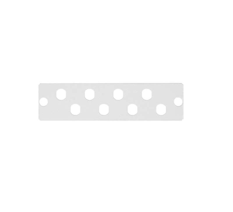 Фото Панель адаптерная до 8 одинарных адаптеров FC стальная сер. NIKOMAX NMF-AP08FCS-GY
