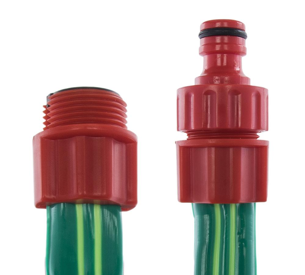 """Фото Шланг для воды дождеватель Quattro Elementi 1/2"""", 10 метров, ПВХ, ПРЕМИУМ, 3-х канальный, с фитингами {244-889} (1)"""