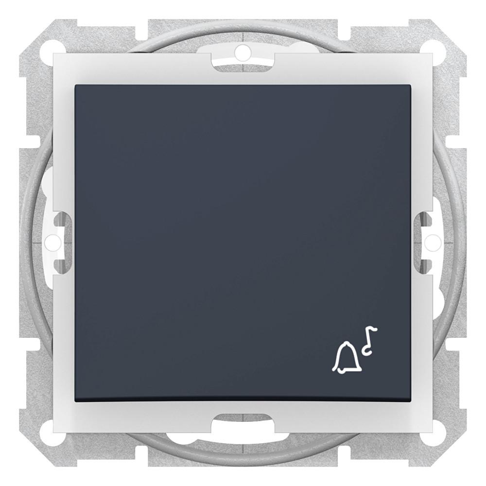 Фото Выключатель кнопочный звонок Schneider Electric Sedna IP44 10A 250V {SDN0800370}