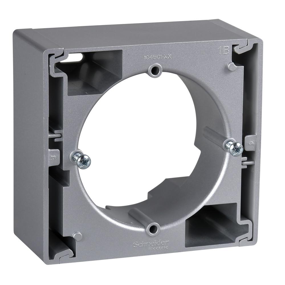 Фото Коробка для наружного монтажа SEDNA, одиночная, алюминий {SDN6100160}