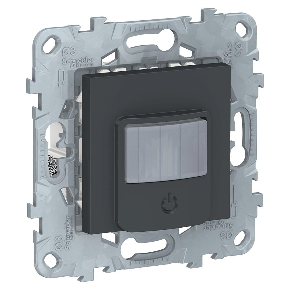 Фото Датчик движения с выключателем UNICA NEW, 10а, антрацит {NU552554}