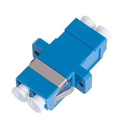Фото Адаптер волоконно-оптический соединительный одномодовый LC/UPC-LC/UPC двойной пласт. син. (уп.2шт) NIKOMAX NMF-OA2SM-LCU-LCU-2