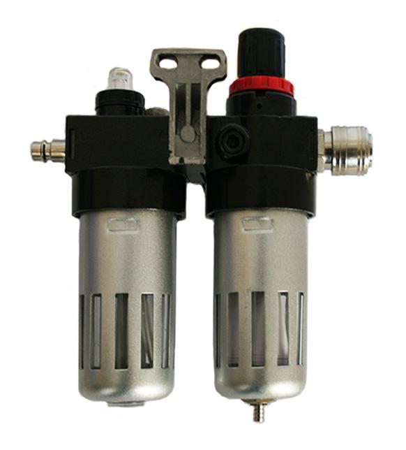 Фото Регулятор давления MF-3, с лубрикатором и фильтром, разъем EURO Quattro Elementi {771-053} (1)