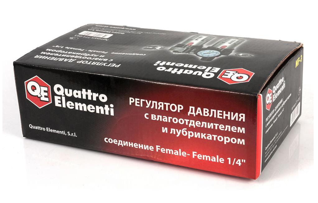 Фото Регулятор давления MF-3, с лубрикатором и фильтром, разъем EURO Quattro Elementi {771-053} (2)