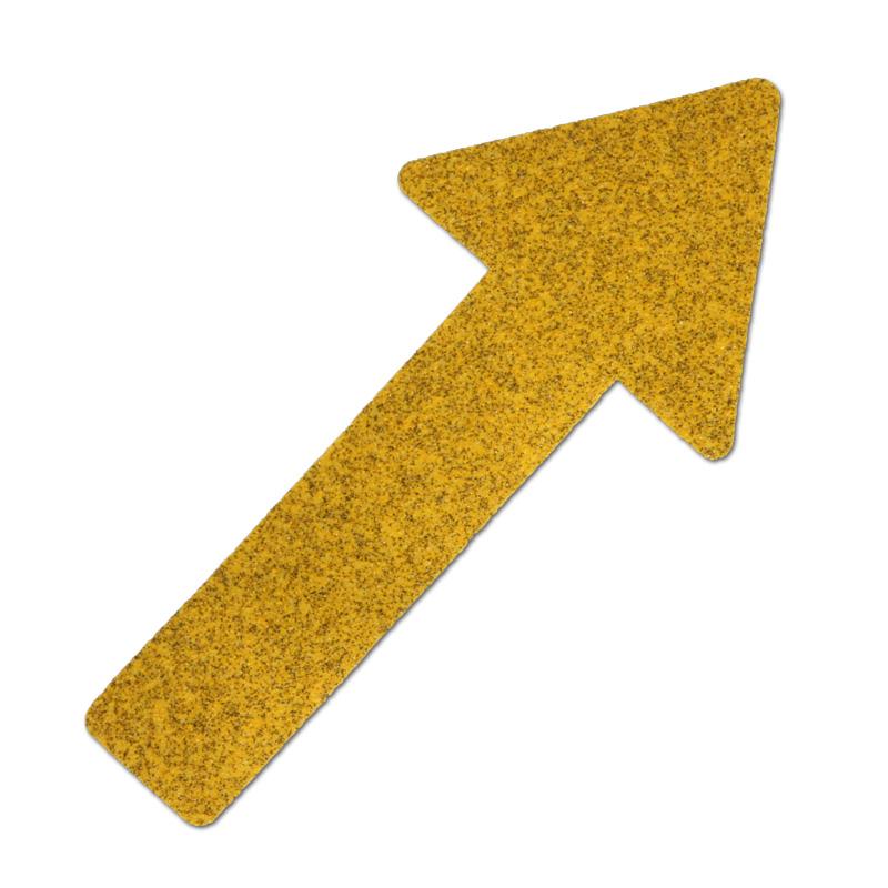 """Фото Противоскользящий напольный знак """"Стрелки"""", формуемый, желтый (130 x 280мм) (10 шт.) {M2GV10P1}"""