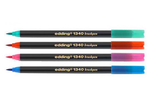 Фото Брашпен Edding E-1340 с гибким наконечником, светло-оранжевый {E-1340#16} (1)
