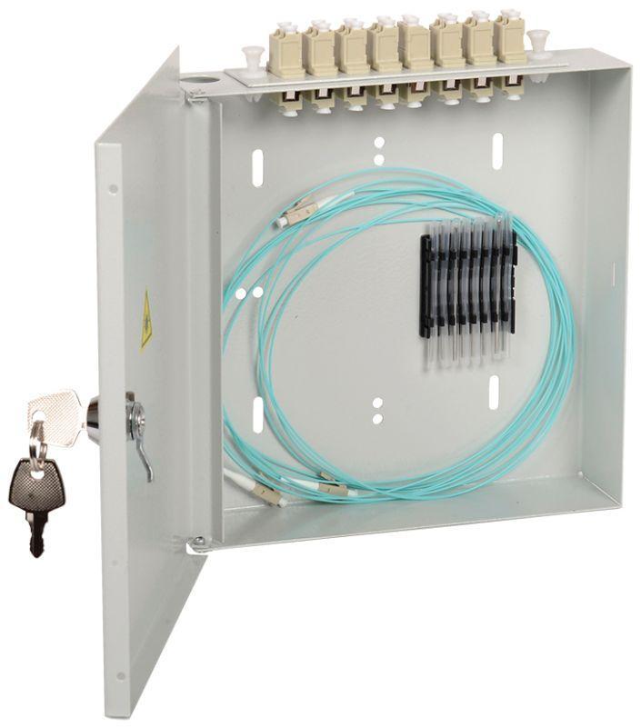 Фото Кросс укомплектованный настенный SC (Simplex) 8 портов (OM4) ITK FOBX8-N-8SCUS04